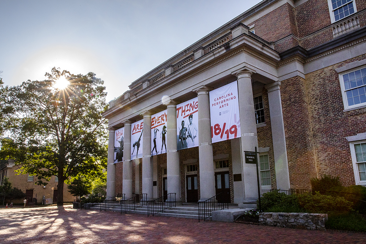 The exterior of Memorial Hall.